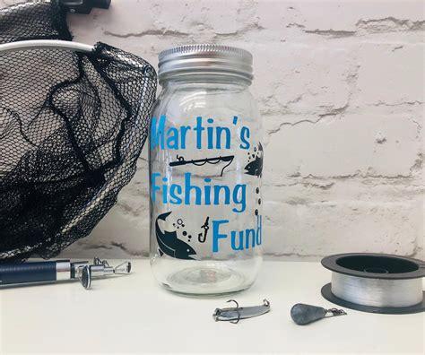 fund fishing jar savings personalised designed