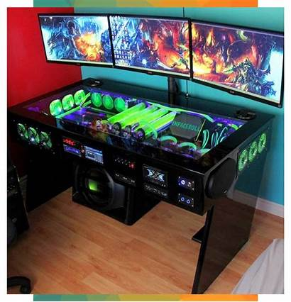 Setup Gaming Pc Desk Dijitallira Corey