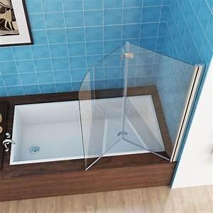 Duschwände Für Badewanne : 120 x 140 cm badewannen 2 tlg faltwand aufsatz 180 duschwand duschabtrennung m ebay ~ Buech-reservation.com Haus und Dekorationen