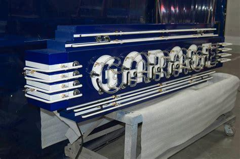 Custom Garage Sign by Custom Porcelain Neon Garage Sign Vault Custom Garages