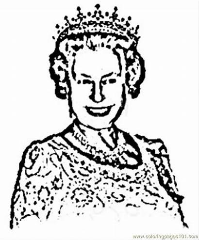 Queen Elizabeth Coloring Clipart Pages Ii Royal