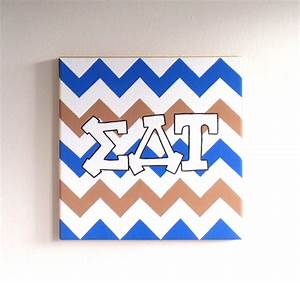 hand painted sigma delta tau letters outline by With sigma delta tau letters