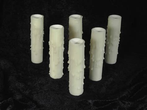 beeswax candle socket covers sleeves set of 6 pcs 4 quot white