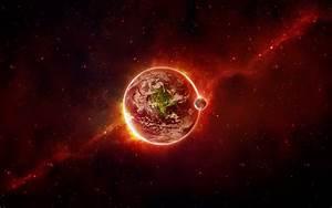 Imagem de Fundo - Planetas em tons vermelhos | Imagens de ...