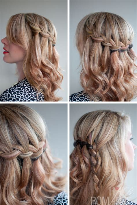 school hairstyle ideas  waterfall braid beautiful