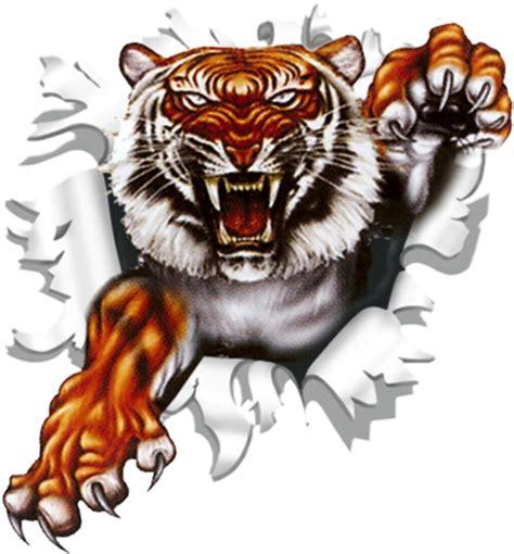 motive tiger sticker ripped torn bullet 90 mm motive tiger