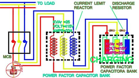 power factor capacitor bank connection diagram how to