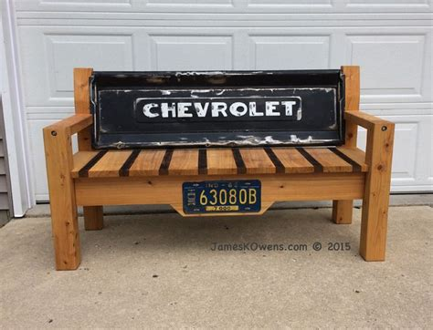 Tailgate Bench For Dale 1950 Chevy Truck Tailgate Diy