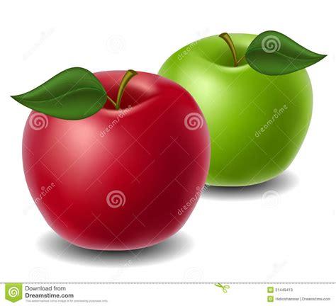 Manzana roja y verde ilustración del vector. Ilustración ...