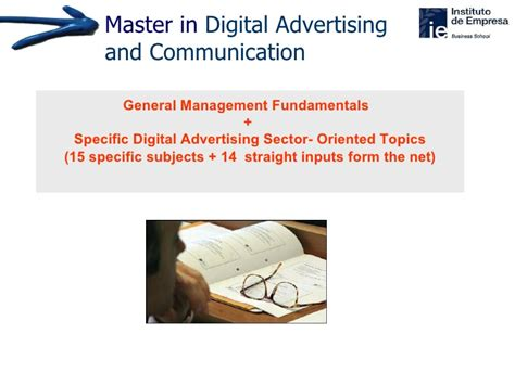 masters in digital marketing europe master in digital advertising communication ie business