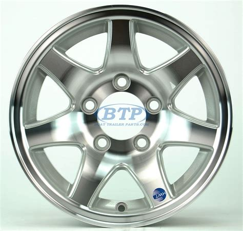 Boat Trailer Wheels Aluminum by Aluminum Boat Trailer Wheel 13 Inch 7 Spoke 5 Lug 5 On 4 1 2