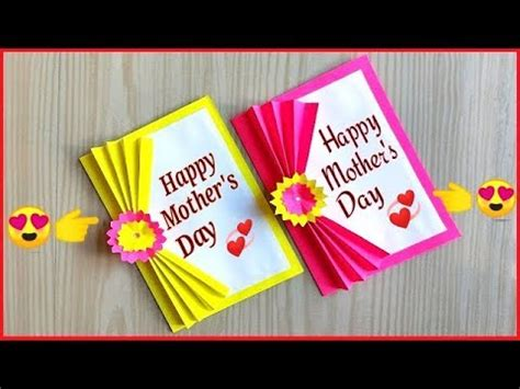 mothers day card making handmade easy  beautiful