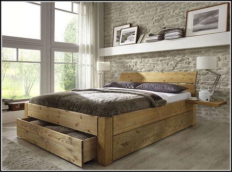 Kiefer Bett Mit Schubladen  Betten  House Und Dekor
