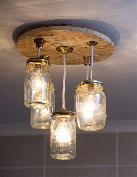 diy jar chandelier sa garden and home