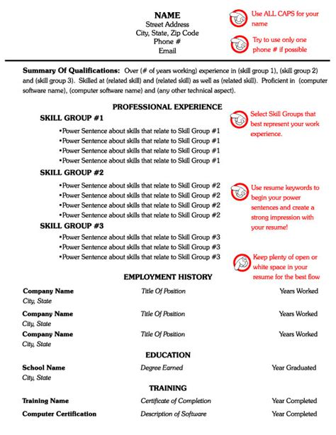 Free Combination Resume Template by Free Resume Templates