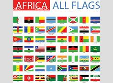 Flags Of Africa Full Vector Collection Stock Vector Art