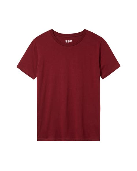 burgundy t shirt s burgundy t shirt for crew neck regular fit goat