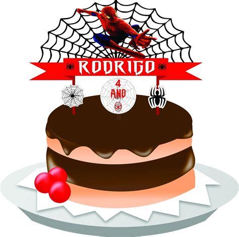 topo de bolo homem aranha arte digital r 14 99 em mercado livre