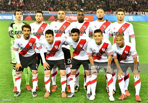 Players of River Plate pose for a team photo prior the ...