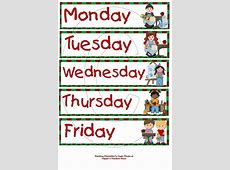 Funny Days of The Week Clip Art 14+