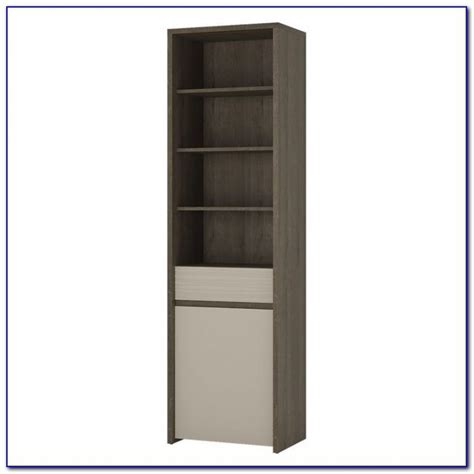 Narrow Bookshelf With Drawers by Narrow Bookcase Oak Bookcase Home Design Ideas