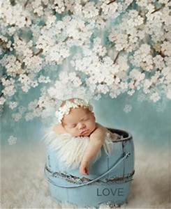 Newborn Photography Background Printed White Flowers Retro Vintage Green Baby Photoshoot Props ...