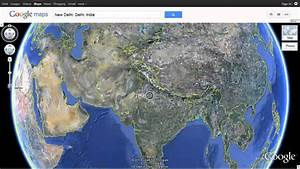 India As Seen On Google Earth Using Google Maps
