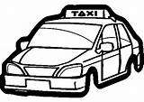 Transportation Taxi Coloring Printable Transport Drawing Drawings Kb sketch template