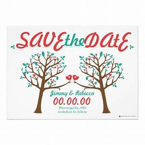 two love trees save the date personalized invite tree of With family tree wedding invitations