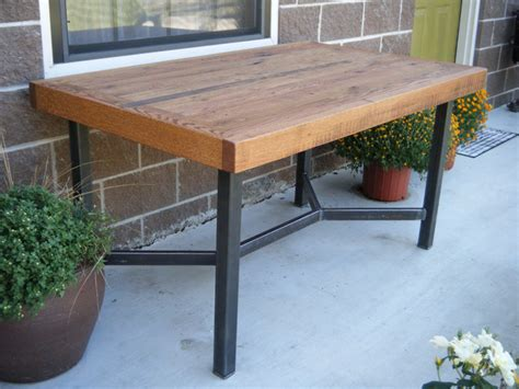 oak and steel dining table dining table oak with welded steel legs by two brothers