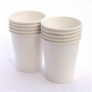 White 8oz Paper Cups - Pipii