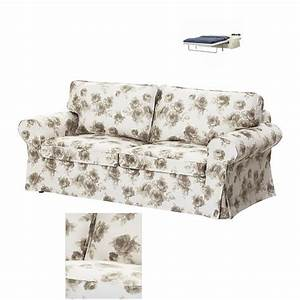 Ikea ektorp 2 seat sofa bed slipcover sofabed cover for Floral sofa bed