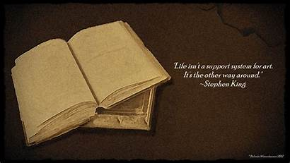 Stephen King Quotes Wallpapers Books Reading Background