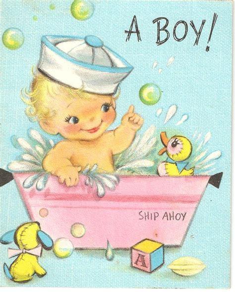 blue baby boy greeting card circa  babyboy
