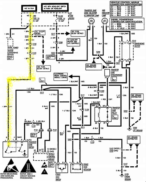 Chevy Silverado Front Light Diagram by 4 Best Images Of Chevy 4x4 Actuator Diagram 1994 Chevy