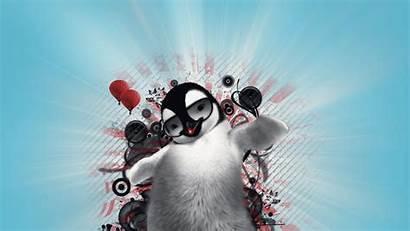 Penguin Wallpapers Dancing Christmas Dance Desktop Computer