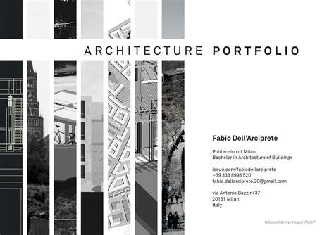 architecture portfolio  fabio dellarciprete issuu
