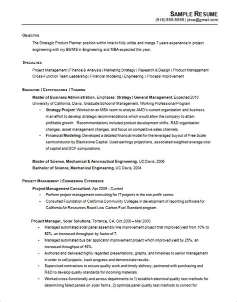Non Chronological Resume Sles by A Successful Resume Template Open Office For Seeker
