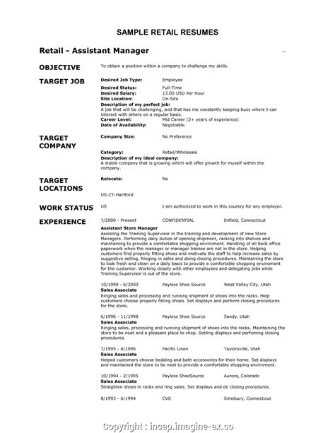 Resume Exles For Retail by Simply Best Resume For Retail Resume For Retail