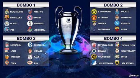 sorteo champions league   quedaron definidos
