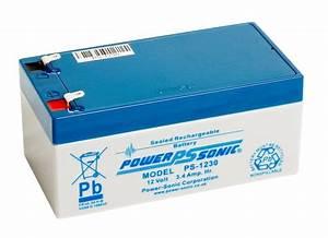 Batterie 12v 4ah : power sonic ps 1230 battery 12 v 3 4 ah ~ Medecine-chirurgie-esthetiques.com Avis de Voitures