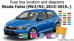 Fuse Box Location And Diagrams  Skoda Fabia  Mk3  Nj  2015