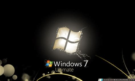 ecran noir bureau windows 7 windows 7 noir brillant fond d 39 écran hd à