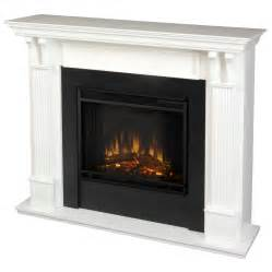 Led Electric Fireplaces by Shop Real Flame 48 In W 4780 Btu White Wood Led Electric