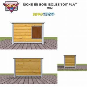 Toit En Bois : niche d 39 ext rieur pour chien en bois isol e toit plat ~ Melissatoandfro.com Idées de Décoration
