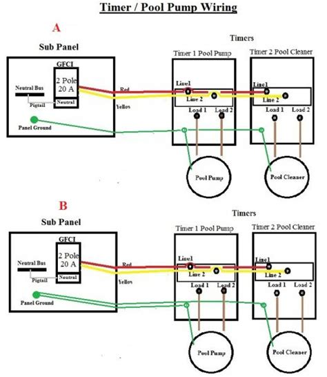 Wiring Diagram For Inground Pool by In Ground Pool Timer Wiring Doityourself