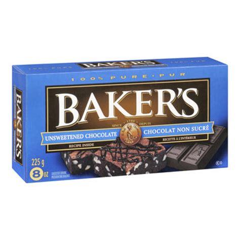 bakers unsweetened baking chocolate