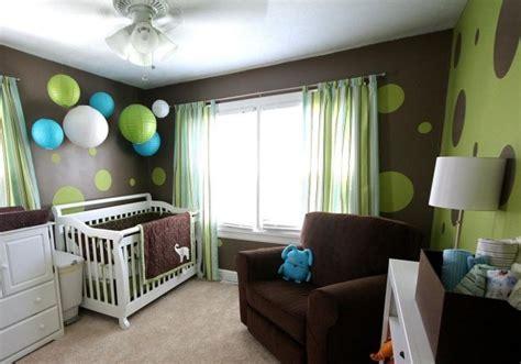 deco chambre bebe vert  bleu visuel