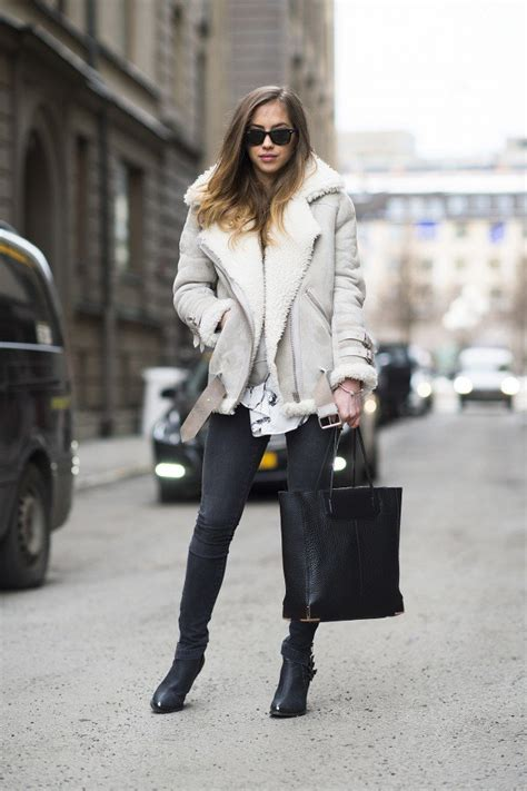 Winter 2015 Fashionable Outfit Ideas with Shearling ...