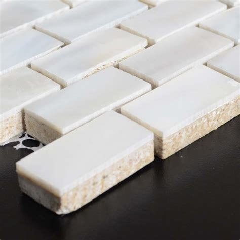 pearl subway tile of pearl subway tiles with base freshwater shell